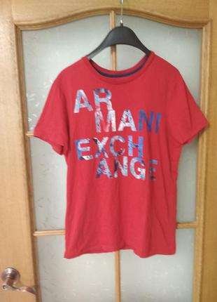 Бомбезная футболка от armani exchange, p. m