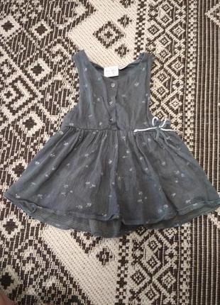 Легкое платье сарафан от zara, 18-24 месяца