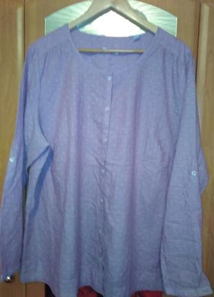 Нежная рубашка шамбре из органического хлопка тсм чибо германи...