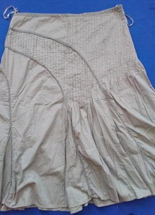 Летняя коттоновая юбка в стиле бохо, размер 20