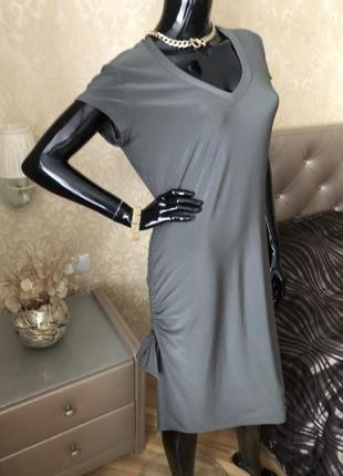 Платье цвета хаки, размер 48, оригинал