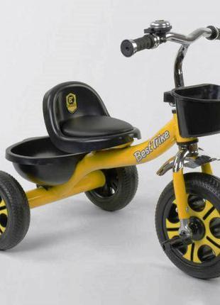 Трехколесный велосипед Best Trike 9033 желтый, колеса пена
