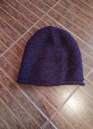 Отличная мягкая одинарная шапка бини крупной вязки от zara мар...