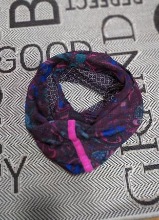 Красивый шарф снуд двусторонний