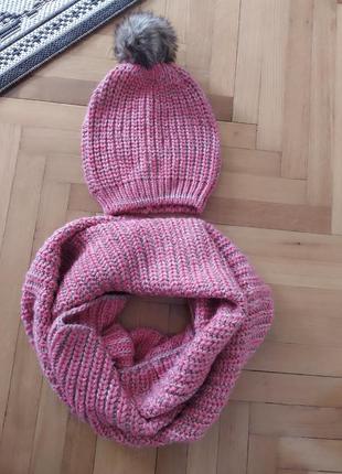 Шикарный набор шапка и снуд