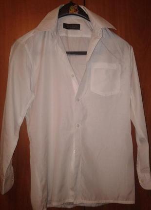 Белая рубашка на мальчика,34 размер