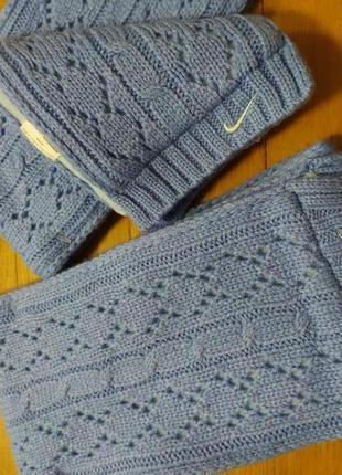 Нежно голубые шарфики nike,можно близняшкам!