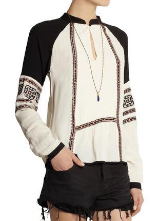 Блуза в этно стиле из крепа от day birger et mikkelsen