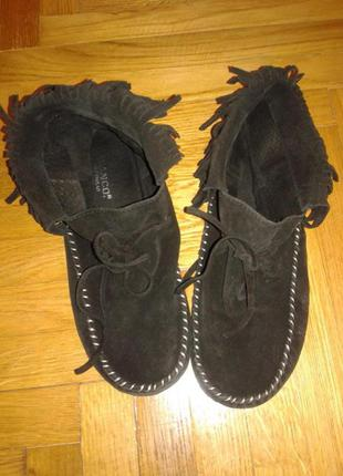 Отличные туфли мокасины ботинки от bianco,p. 36