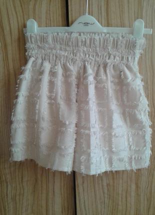 Отличные  новые шорты юбка с завышенной линией талии и кармана...