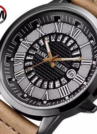 Мужские наручные часы. Японский кварцевый механизм. Римские ци...