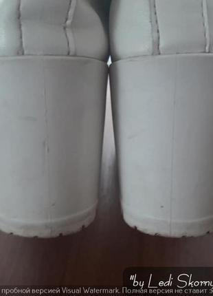 Белые туфли на тракторной подошве, размер 39