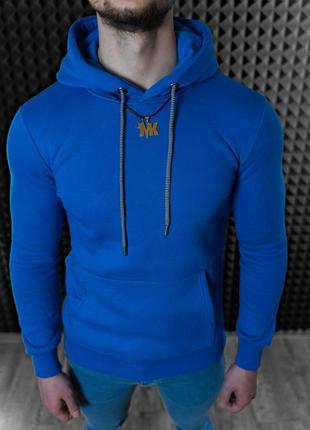 Худи мужской- синий цвет