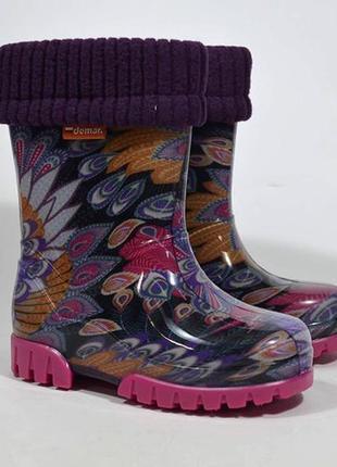 Резиновые сапоги demar демар гумові чоботи чобітки для девочки...