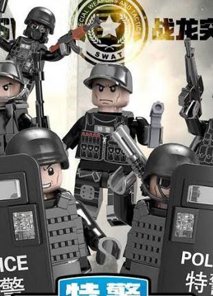 Фигурки лего (аналог) солдаты, спецназ, полиция, много оружия