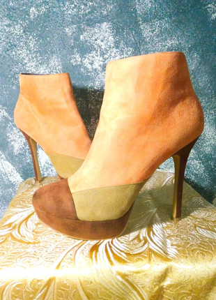 Женские рыжие ботинки демисезон