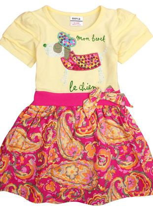 Летнее платье с собачкой tm nova