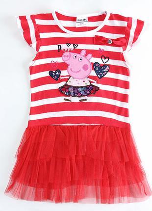Летнее платье в полоску свинка пеппа tm nova