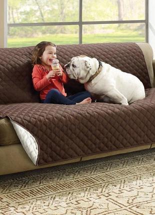Двустороннее водонепроницаемое покрывало для дивана (124см)