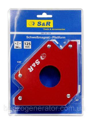 Магнитный сварочный угольник S&R 34 кг, 290101125