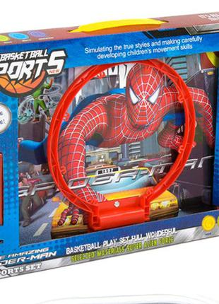 Баскетбольный набор YD 2588 Человек паук, мяч, насос