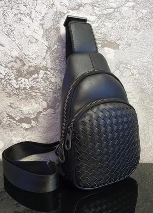 Сумка-рюкзак из натуральной кожи/ рюкзак на одной лямке / сумк...