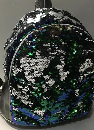 Новый женский рюкзак с паетками .