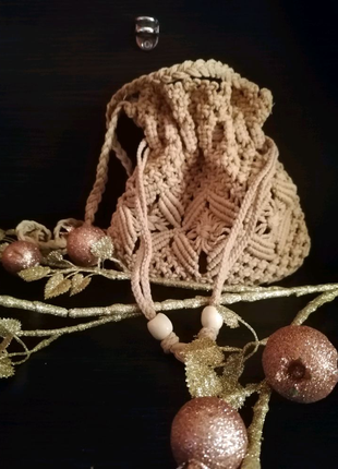 Сумка клатч в'язана/ вязаная сумочка через плечо