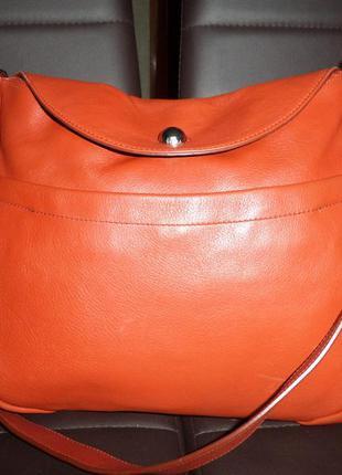 Стильная обьемная сумка из натуральной кожи furla