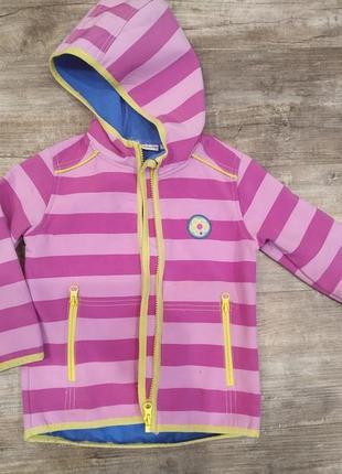 Куртка-ветровка девочке на флисе р.92