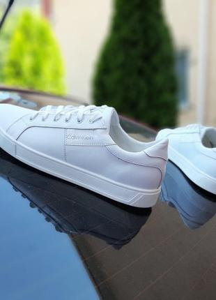 10234 Calvin Klein кеды мужские белые кожаные кожа кеди білі к...