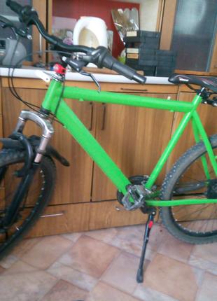 Велосипед зелёный