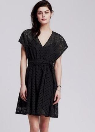 Шикарное выбитое платье из прошвы