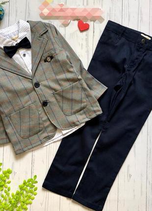 Нарядный костюм,  пиджак рубашка брюки