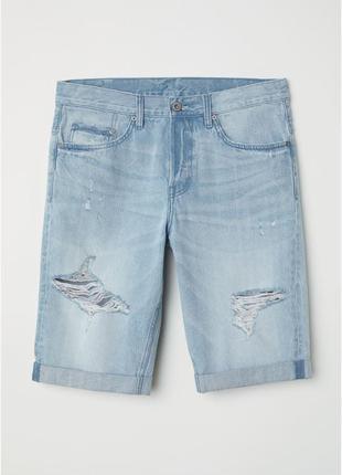 Мужские джинсовые шорты h&m. 36 размер