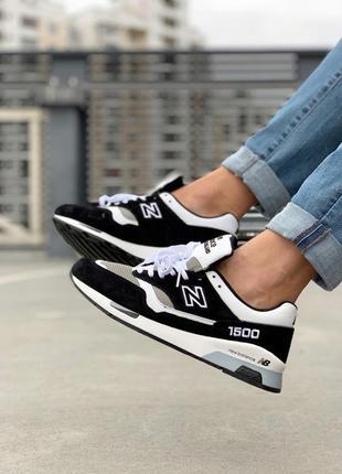 Чудесные кроссовки 💪new balance 1500 black white💪