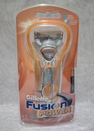 Станок для бритья gillette fusion power станок +один катридж+б...