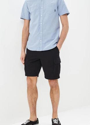 Мужские шорты карго из хлопка. h&m. размер l