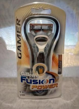Станок для бритья gillette fusion gamer станок +один катридж+б...