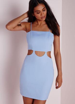 Невероятно красивое вечернее небесно-голубое платье с эффектом...