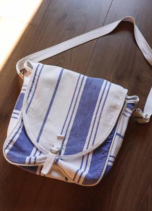 Тканинна сумка через плече на літо
