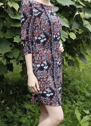 Легке плаття на літо в орнамент на резинці/h&m