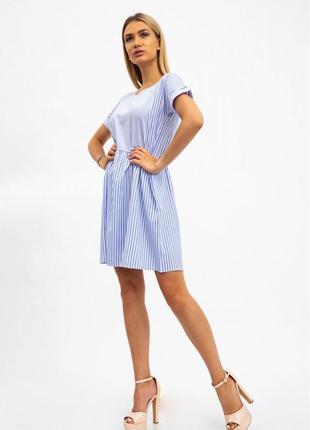 Платье женское, бело-голубое