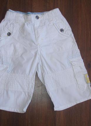 Фирменные h&m нарядные шорты мальчику 6-8 лет идеал хлопок