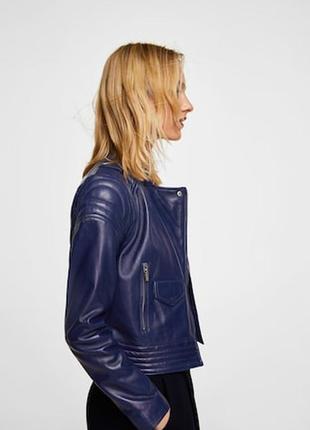 Новая кожаная куртка манго. размер с. испания.