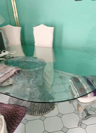 Итальянский кухонный стеклянный стол!