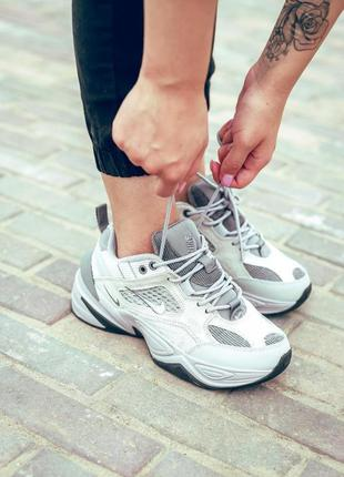 Nike m2k tekno atmosphere grey🔺женские кроссовки найк серый🔺36-40