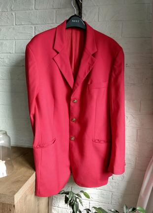 Пиджак moschino cheap and chic (италия) винтаж люкс бренд, красны