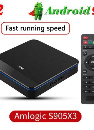 Новый TV Box U2 4+32Гб S905X3 Android 9.1