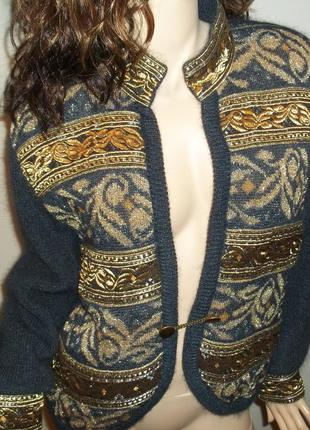 Dino valiano винтаж ретро кардиган  свитер кофта куртка 42 зап...